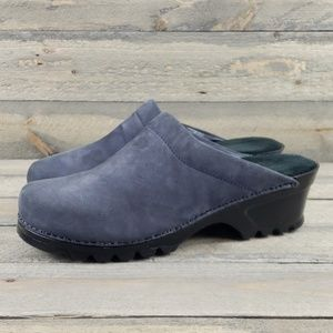 White Mountain Shoes - White Mountain Made In Italy Blue Suede Clogs  7m